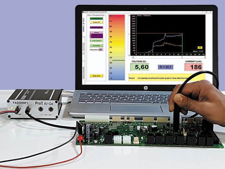 Prot Ar-Ge Circuit Board IR Testing Screen